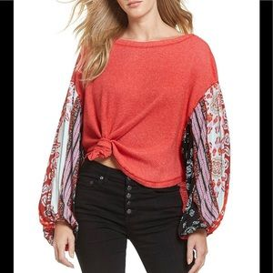 Free People Blossom Thermal Rose Top sz Medium